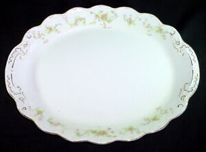 Antique White Oval Platter W Flowers Vines Johnson Bros England Offers