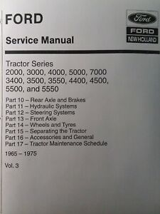 Ford 2000 3000 5000 7000 4500 5500 Tractor Chassis Master Service Vol 3 Manual