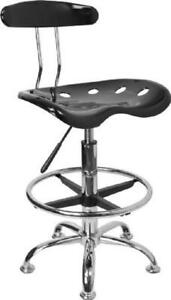 Mechanics Tall Adjustable Work Shop Stool Bench Chair Swivel Garage Tractor Seat