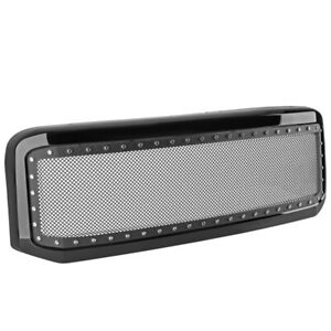 For Ford F250 F350 Super Duty Excursion Ss Rivet Mesh Front Bumper Hood Grille B