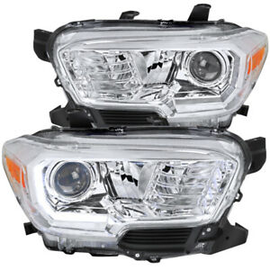 For 2016 2019 Toyota Tacoma Projector Headlights With Led Daytime Running Light