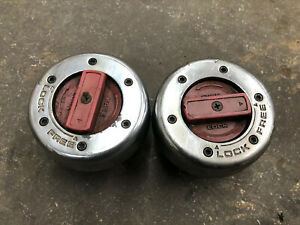 Used Warn Manual Locking Hubs Red Dials Dana 60 Front Axle 50 Ford Chevy