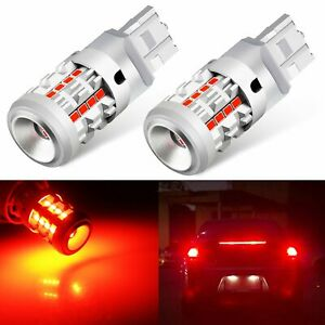 Jdm Astar 2x 7443 7440 26 Smd Red Led Brake Tail Stop Light Parking Bulbs Canbus