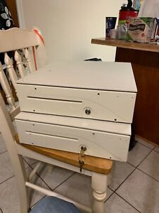 Apg Cash Drawer Off White 16 x16 W lock And Key Used Condition No Till