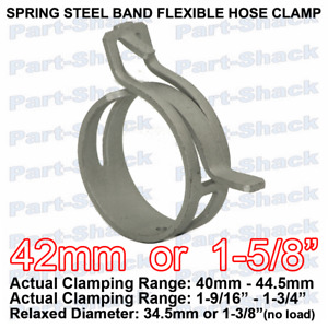Spring Steel Band Flexible Hose Clamp For 1 5 8 Inch 42 Mm Od Hoses 1 Piece