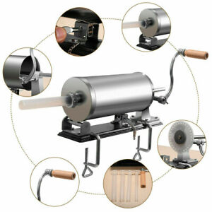 3 6 L Sausage Stuffer Maker Meat Filler Machine Stainless Steel Horizontal Tube