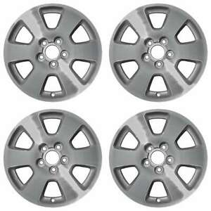 Subaru Forester Machined With Silver 1998 2002 15 Oem Wheels Rims Full Set