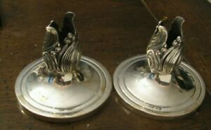 Pair Vintage Mcm Sterling Silver Durham Candlesticks 608 7 21 Ozt Not Weightd