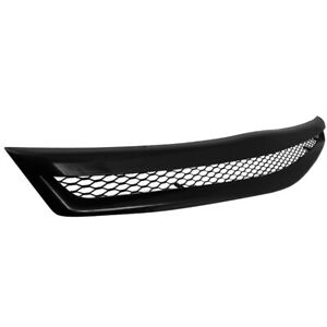 For 2006 2008 Honda Civic 2dr Coupe Black Honeycomb Type Grill Hood Grille R