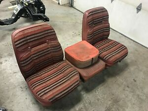 67 72 Chevy C10 Truck Buddy Bucket Seat Assy Oem Hot Rod C 10 Red Gm 68 69 70 71