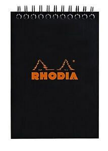 Rhodia Wirebound Notebook 6 X 8 Graph Black