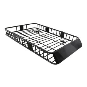 For Universal 64 Black Extension Roof Rack Cargo Luggage Carrier Hold Basket Su