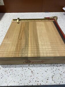 Solid Wood Vintage Ingento 12 Inch Paper Cutter Fantastic Condition Working