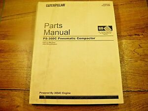 Cat Caterpillar Ps360c Pneumatic Compactor Parts Manual Pjf Crs