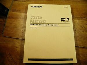 Cat Caterpillar Cb634d Vibratory Compactor Parts Manual Cdf