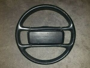 Porsche Oem 944 951 911 924 Steering Wheel Black Leather Wrapped W Horn Button