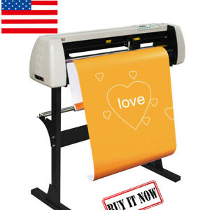 Useful 33 Vinyl Sign Cutter Plotter Machine 850mm Paper Feed With Stand