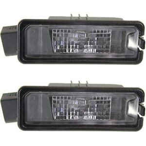 New License Plate Lights Lamps Set Of 2 Rear Driver Passenger Side Vw Pair