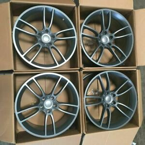 Used 20x10 20x11 Concave Mustang Gt Style 5x114 3 35 50 Graphite Wheels Set 4