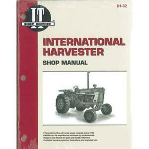 Shop Manual For International Harvester 1256 1456 706 756 806 856 21206 21256