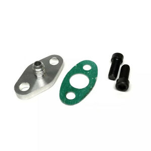 Turbo Oil Feed Line Flange Gasket An4 4an Fitting Adapter For T3 T4 T04e Gt42