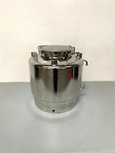 Alloy Products 40 Liter Stainless Steel Collection Vessel W 2 Bottom Drain