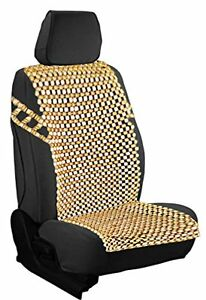 Zento Deals Vehicle Natural Wood Bead Seat Cover Massage Cool Home Chair Cushion