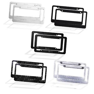 2 Pack Of Premium Quality Durable All Weather License Plate Frames