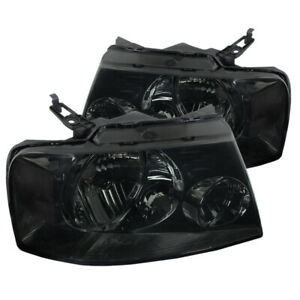 For 2004 2008 Ford F150 Euro Style Headlights Smoke Replacement Pair