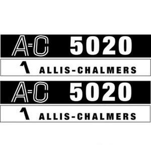Hood Decal Set For Allis Chalmers 5020