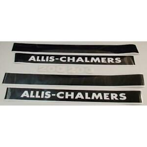 Ac200 New Hood Decal Set Fits Allis Chalmers Tractor Model 200