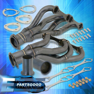 For Chevy pontiac buick 265 400 V8 Small Block Sbc Stainless Manifold Header Blk