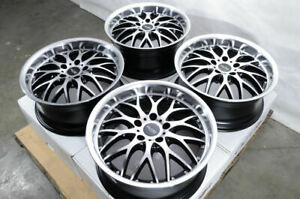 17x7 5 Black Wheels Fits Mercedes Benz Volkswagen Cc E230 E320 S430 Beetle Rims