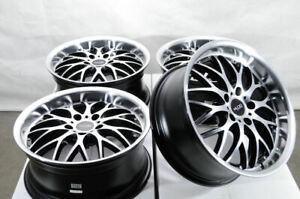 17x7 5 5x112 Black Wheels Fits Mercedes Volkswagen Cc Beetle Eos Gti 5 Lug Rims