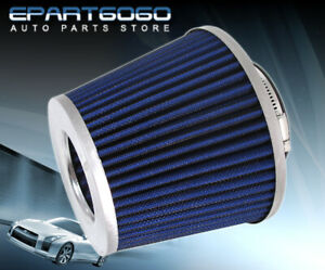For Universal 3 0 Air Filter High Flow Inlet Intake Replacement Car Silver