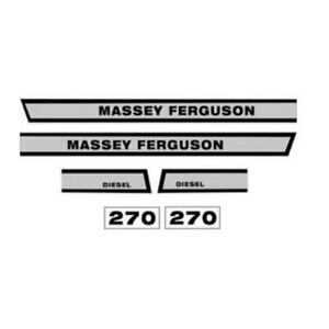 Mf270 Hood Decal Set For Massey Ferguson 270 Tractor
