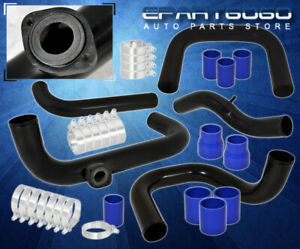 For 96 00 Civic Ek Bolt On Turbo Piping Kit Rs Bov Adapter Blue Silicone Coupler