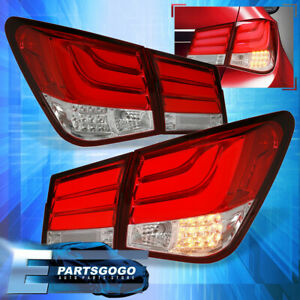 For 08 15 Chevy Cruze Tube Style Brake Stop Led Signal Tail Lights Lamps Set Red