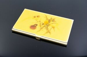Business Card Case With Enameled Goldfinch