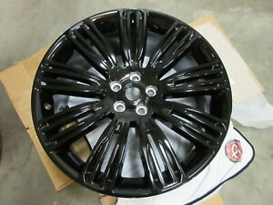 Oem Land Rover Range Rover Lr099147 22 9 Split Spoke Black Gloss Powder Coat
