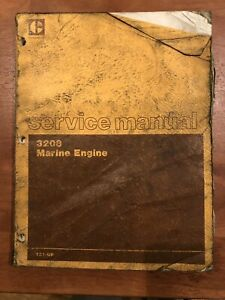 Caterpillar Cat 3208 Marine Engine Service Manual 1z1 up
