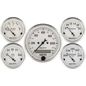 Autometer 1602 Gauge Set Street Rod Kit With Electric Speedometer