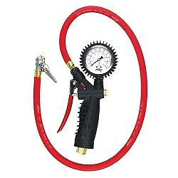 Milton 573a Analog Inflator Gauge With Ball Foot Air Air Chuck Clip