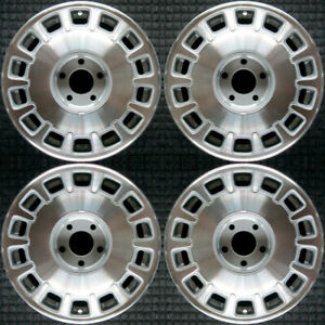 Cadillac Deville Machined 16 Oem Wheel Set 1996 To 1999