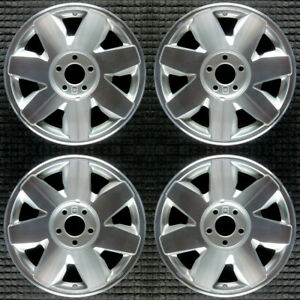 Cadillac Deville Machined 17 Oem Wheel Set 2001 To 2002