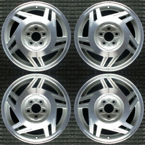 Chevrolet Cavalier Machined 15 Oem Wheel Set 1995 To 1999