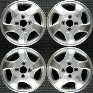 Honda Accord Machined 15 Oem Wheel Set 1998 To 2000