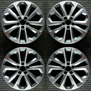 Honda Accord Machined W Dark Charcoal Spokes 18 Oem Wheel Set 2013 To 2015