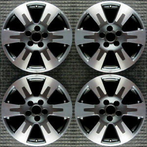 Honda Ridgeline Machined W Gray Pockets 18 Oem Wheel Set 2017 To 20