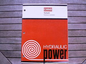Case Thriftylift Hydraulic Cylinders Power Service Parts Supply Catalog Book
